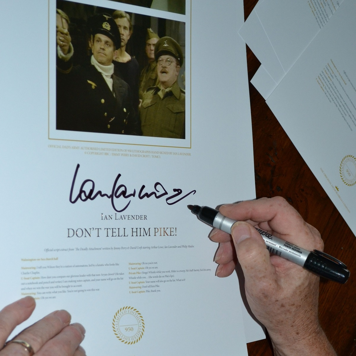 Signed Don't Tell Him Pike limited edition