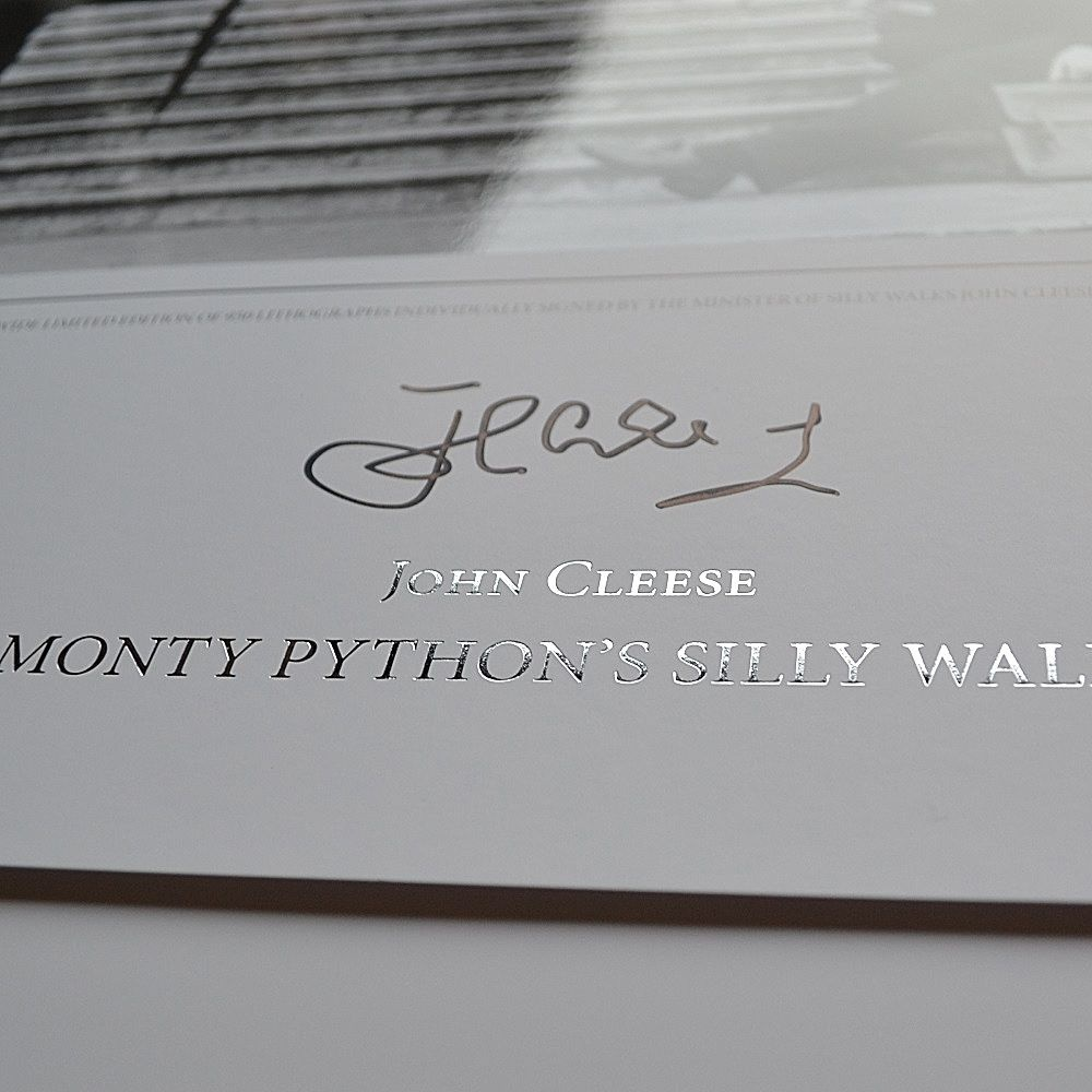 John Cleese signs Silly Walks